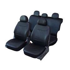 Housses de Siège 1/3 2/3 1/2 en Simili Cuir Noir pour Toyota Land Cruiser QD221