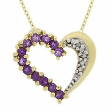 Yellow Gold Plated Amethyst Fine Necklaces & Pendants