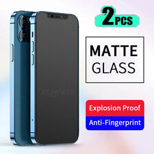 2x For iPhone 8/11/12 Pro Max Matte Screen Protector Anti Glare Tempered Glass