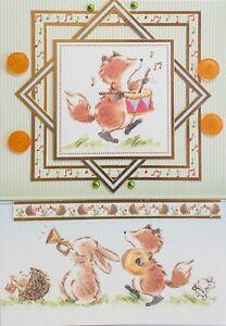 Cute Woodland Animal Greeting Cards - Handmade - Deer, Fox, Squirrel
