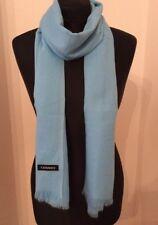 Sky Blue Very Fine Knit Cashmere Scarf