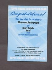 2018 Topps Museum Collection UFC Henry Cejudo AUTO Redemption Card