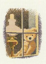 Heritage Crafts John Clayton Thread Bears William in the Window Cross Stitch Kit