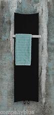 Designer Bone Style Radiator Heated Towel Rail Black 300mm wide 1200mm high