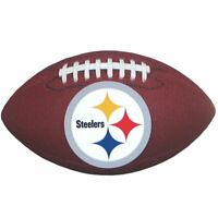 NFL PITTSBURGH STEELERS FOOTBALL BALL~FAN GEAR~XTRA GRIP+DURABLE+CUSHIONED~NEW!