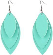 Jewelry Women Three Layers Leather Drop Earring