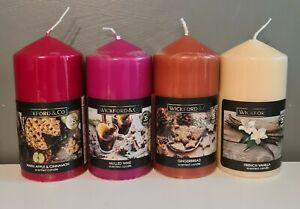 Wickford & Co Festive Pillar Candle - Choose from 4 Christmas Scents - Vegan