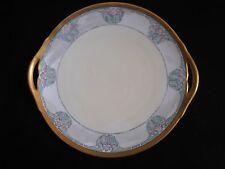 ART NOUVEAU Plate b & g porcelain France Hand Painted 1919 gold rim COLORS!