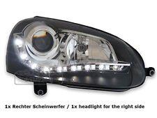 DEPO LED Scheinwerfer Rechts VW Golf 5 V Schwarz Tagfahrlicht Optik Einzelteil
