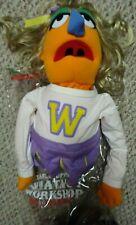 FAO Schwartz Cheerleader Orange Muppet Puppet Whatnot Workshop (no stick) & Bag