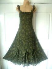 Vestido De Encaje per Una Verde Talla 16R