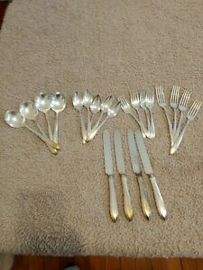 Oneida Community Plate Silverware Coronation Service for 7Serving (57)piece Set