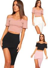 Regular Size Polyester Knee-Length Asymmetrical Skirts for Women