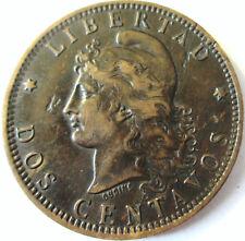 ARGENTINA.1884  2 CENTAVOS - DOS CENTAVOS COPPER COIN .33 MM