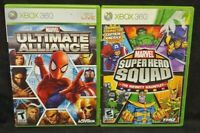 Marvel Ultimate Alliance + Super Hero Squad Infinity XBOX 360 2 GAME Lot Tested