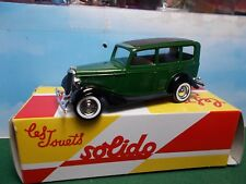 SOLIDO DIE CAST FORD A V8 BOXED 1:43 SCALE VERY GOOD CONDITION