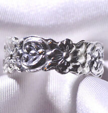 .925 Mexico. Sterling Silver Floral Ring