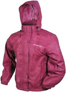 NOS FROGG TOGGS 506514 PRO ACTION WATERPROOF JACKET CHERRY SIZE WOMENS 2X