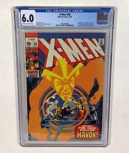 X-MEN #58 CGC 6.0 BIG KEY! L@@K (1st Havoc! Neal Adams cover & art!) 1969 Marvel