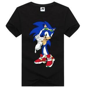 Childrens Sonic Robot Papa Bear Printed Kids T Shirt Round Neck Summer Top Tee