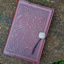 """Celtic Hounds Wine Large 6""""x9"""" Leather Journal Oberon Design COMBINED SHIPPING"""