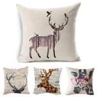 1* Vintage Linen Cotton Cushion Cover Waist Throw Pillow Case Home Sofa Decor T
