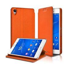 Etui à rabat latéral Support Couleur Orange pour Sony Xperia Z3 + Film de protec
