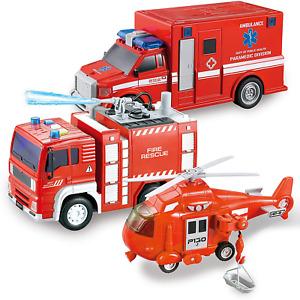 juguetes para niños camion de bomberos parulla regalos para niños 5,6, años 3PCS