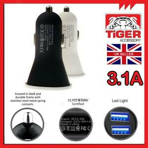 NEW DUAL IN CAR CHARGER FOR APPLE iPHONE 5 5S 5C 6 7 7 PLUS 8 X 10 MOBILE PHONE