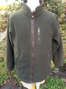 Mans Fleece Jacket Harvey Parker wind & water resistant Navy or Green ENDS SOON