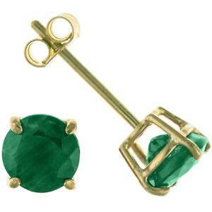 9ct Gold & Emerald May Birthstone 5mm Stud Earrings Jewellery