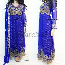 Indian Pakistani Bollywood Designer Party Wear Readymade Dress Anarkali Royal S