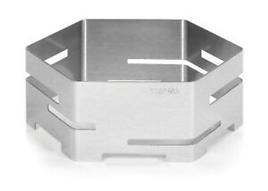 "Rosseto Skycap Hexagon Honeycomb Riser Small 14"" Stainless Steel"