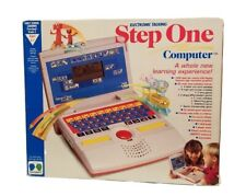 VINTAGE STEP ONE COMPUTER TEAM CONCEPT KIDS LAPTOP LEARNING GAME TESTED WORKING