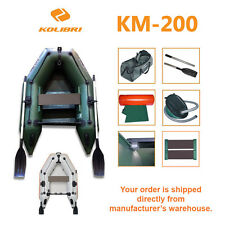 Kolibri KM-200 Fishing Inflatable Dinghy Rowing Motor Boat  +Flooring