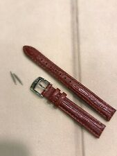 Seiko Watch 13 MM Leather Strap: Authentic Calf Brown L02S H 13. New