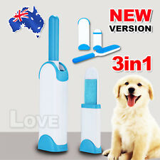 Reusable & Washable Pet Hair Lint Remover Clear Clothes Fabric Brush AU STOCK