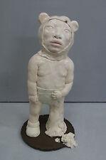 """RARE ORIGINAL CHIHO IWASE  """"Statue of Fantasy""""  JESMONITE RESIN Japan SCULPTURE"""