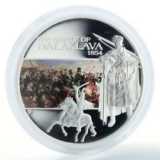 Tuvalu, 1 dollar Battle of Balaklava 1854 , silver coloured proof coin 2009