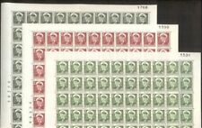 Greenland #28-32,34 1ore/30ore Fred Ix, Complete sheets of 100, Nh, Scott $480+