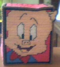 Handmade Tissue box holder Porky Pig