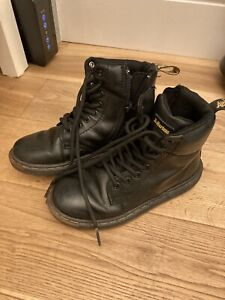Dr Martens Boots Size 11 Black Leather Lace Up