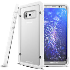 Samsung Galaxy S8 Protective Shock Case Cover With Stand Fusion Buffer White/frost