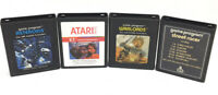 4 Vintage Atari 2600 Games: Asteroids. E.T., Warlords & Street Racer