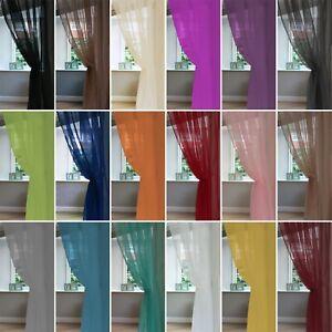 Single Plain Voile Net Curtain Sheer Panels Slot Top - Free Postage