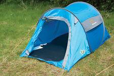 Fino a 2 Tenda BLU/GRIGIO-Quick Pitch Pop Up Tenda Festival Campeggio Trekking