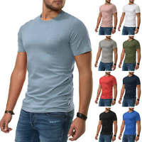 NEU Jack & Jones Herren T-Shirt Kurzarmshirt Casual Trendy Basic Shirt Color Mix
