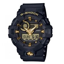 Casio G-Shock *GA710B-1A9 Front Button Anadigi Black & Gold Watch for Men