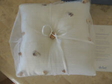 Beach Wedding ring bearer pillow with sea shells HAND CRAFTED FAUX WEEDING RING
