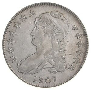 1807 Capped Bust Half Dollar - Large Stars - O-114 *7401